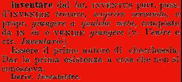 etimologia del verbo inventare