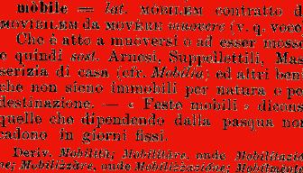 Etimologia mobile for Mobilia dizionario
