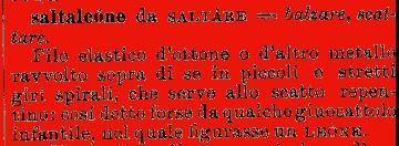 Etimologia saltaleone for Mobilia dizionario