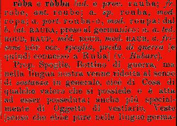 ROBA : Vocabolario della Crusca, Firenze - edizione (1729-1738)