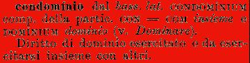 Condominio etimologia